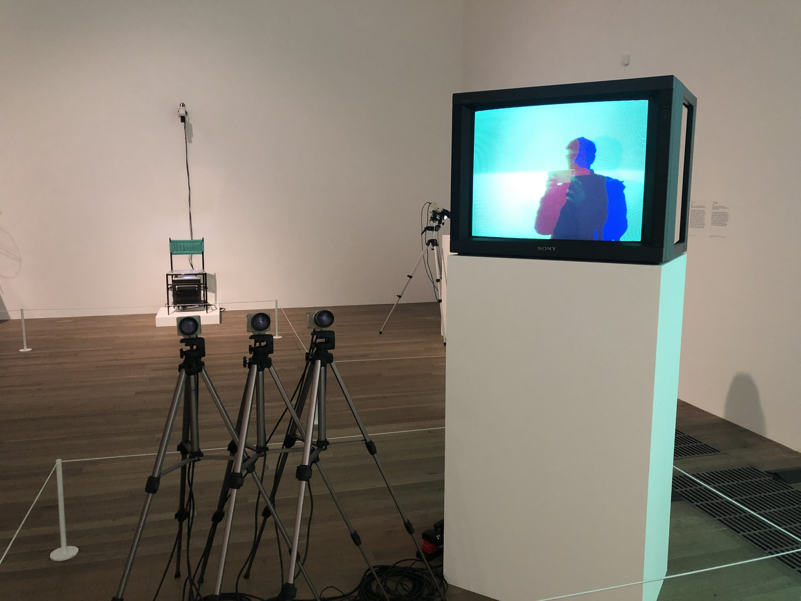 Installation image from Nam June Paik retrospective at the Tate Modern 2020
