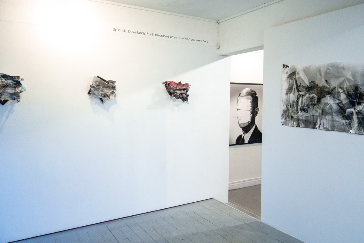 View of an exhibition including work by William Mokrynski