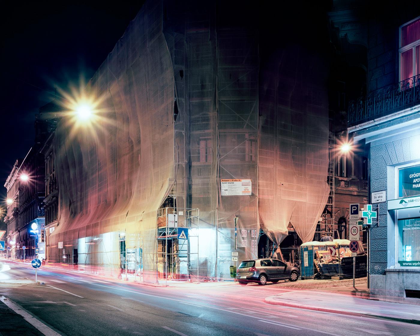 """""""Fö utca & Jégverem utca, Budapest"""" from the series Nylon Chrysalis, by William Mokrynski"""