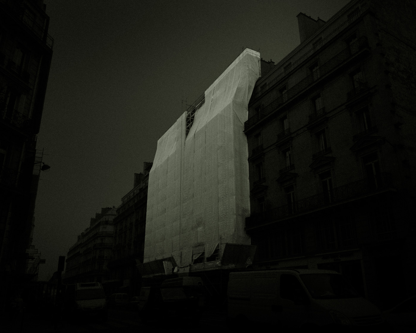 """Monday, 04:51"" from the series Nylon Chrysalis, by William Mokrynski"