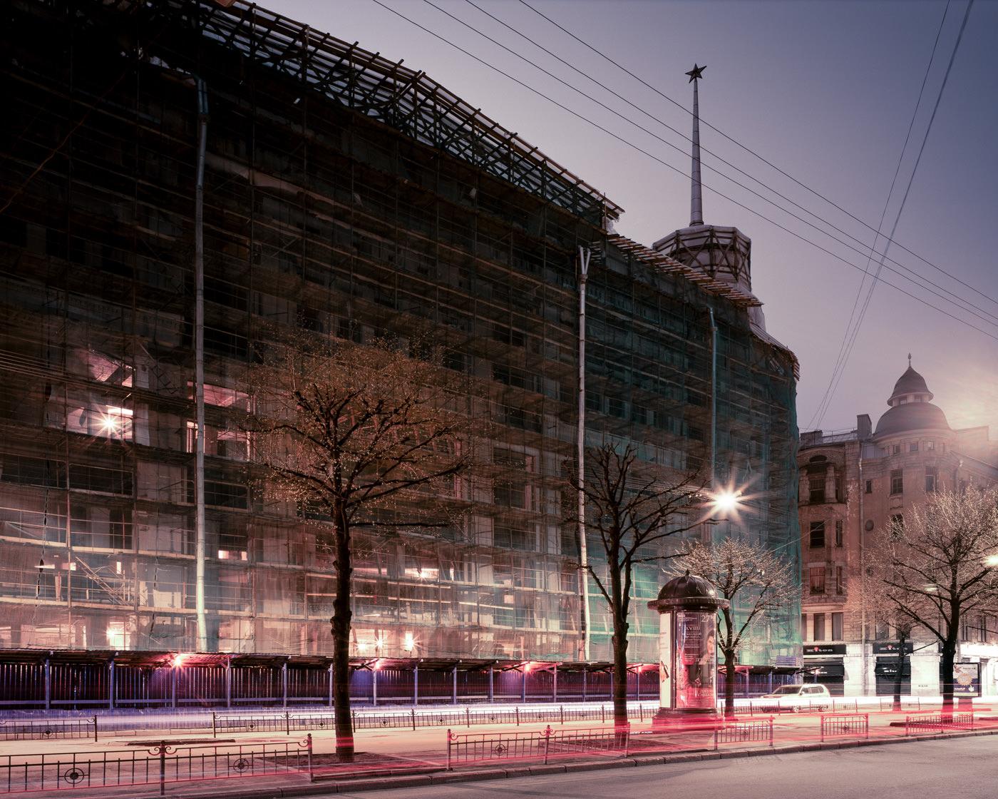 """""""DLT (Dom Leningradskoi Torgovly), St. Petersburg"""" from the series Nylon Chrysalis, by William Mokrynski"""