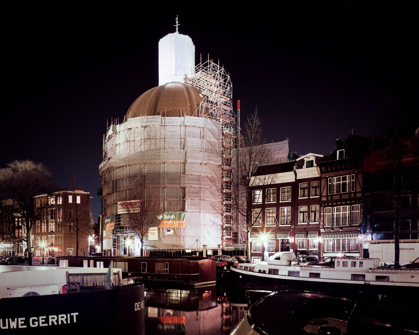 """Ronde Lutherse Kerk, Amsterdam"" from the series Nylon Chrysalis, by William Mokrynski"
