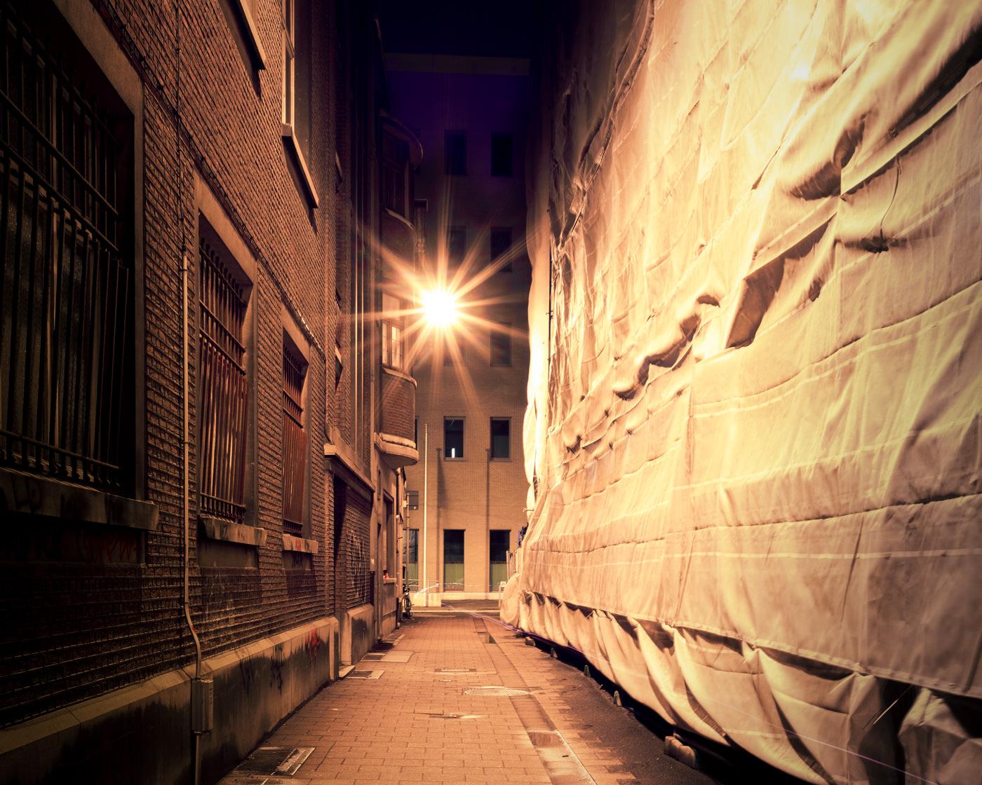 """""""Cellebroedersstraat, Antwerp"""" from the series Nylon Chrysalis, by William Mokrynski"""