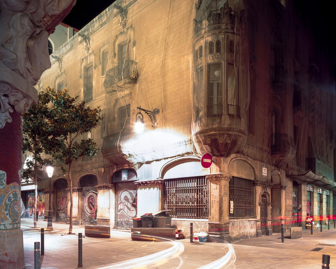 """Colegio La Salle, Sant Pere més Alt, Barcelona"" from the series Nylon Chrysalis, by William Mokrynski"