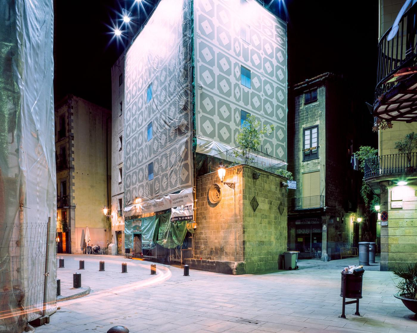 """Plaça de Santa Maria, Barcelona"" from the series Nylon Chrysalis, by William Mokrynski"