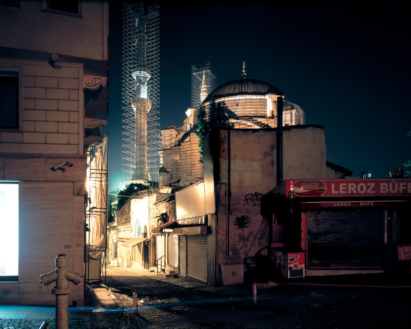 """Nuruosmaniye Mosque, Istanbul"" from the series Nylon Chrysalis, by William Mokrynski"