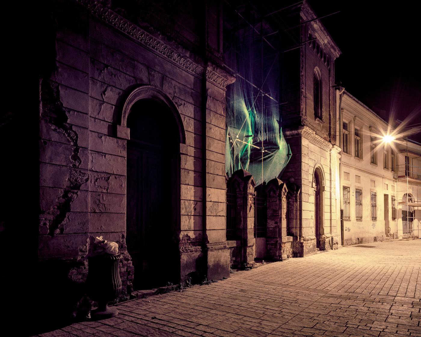 """Synagogue Košice"" from the series Nylon Chrysalis, by William Mokrynski"