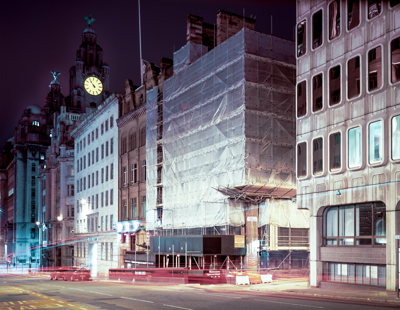 """""""Water Street and Covent Garden, Liverpool"""" from the series Nylon Chrysalis, by William Mokrynski"""